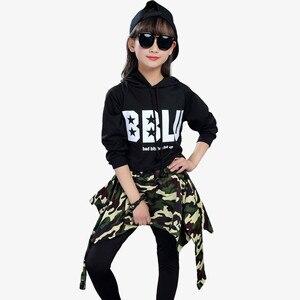 Image 4 - Kids Fashion Street Dance Hip Hop Dance Clothing Girls Ballroom Jazz Dance Costume Children Crop Tops+Pants Skirts 2 Piece Sets