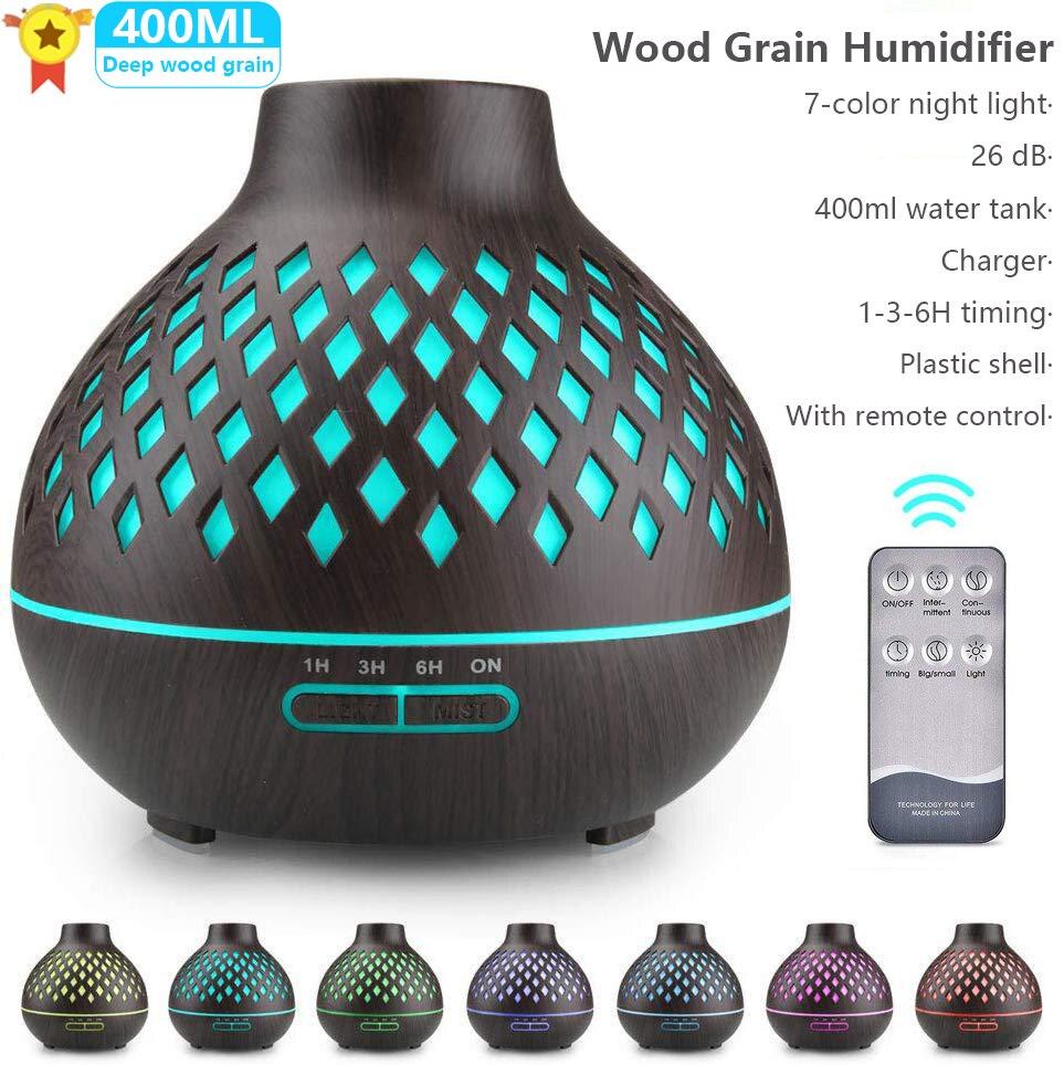 Elektryczny rozpylacz zapachów ultradźwiękowy nawilżacz powietrza xaomi lampa LED mgła aromaterapeutyczna ekspres zdalnego sterowania dyfuzor olejków eterycznych