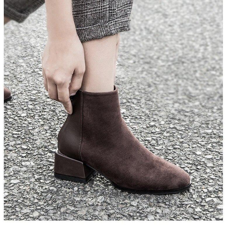 de moda feminina novas botas de tornozelo