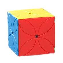 Moyu Meilong Klavertje Vier Magic Cube Stickerloze Puzzel 4-Blad Cube Speed Educatief Speelgoed Voor Kinderen Studenten