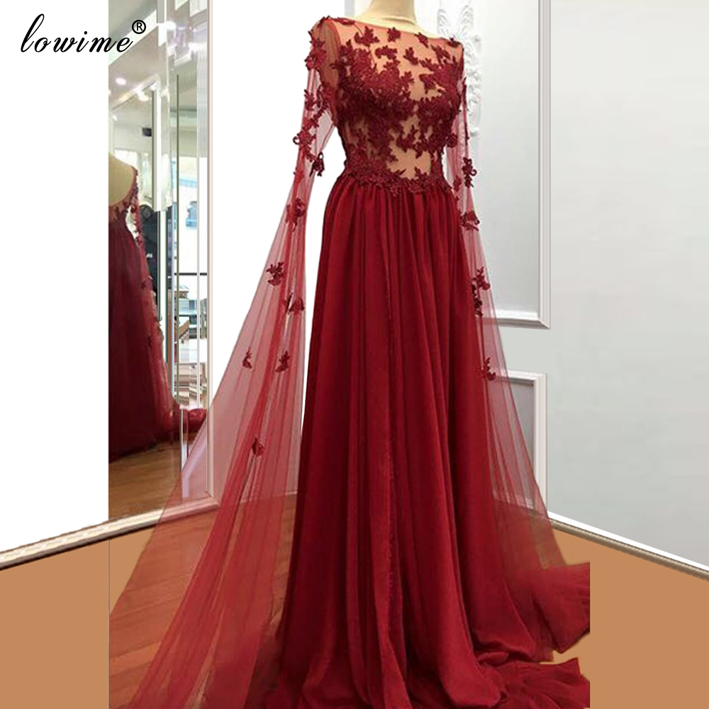 Elegant Burgundy Fairy Prom Dresses Lace платье на выпускной Long Dresses Woman Party Night Dubai Robe De Soire Evening Gowns