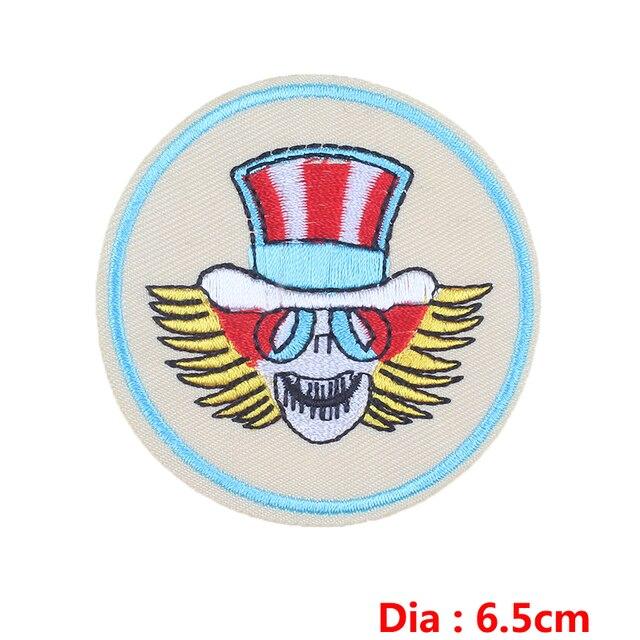 Nicediy – patchs pour vêtements, lettres de Poker, patchs brodés, Punk, crâne, autocollants, accessoires pour vêtements