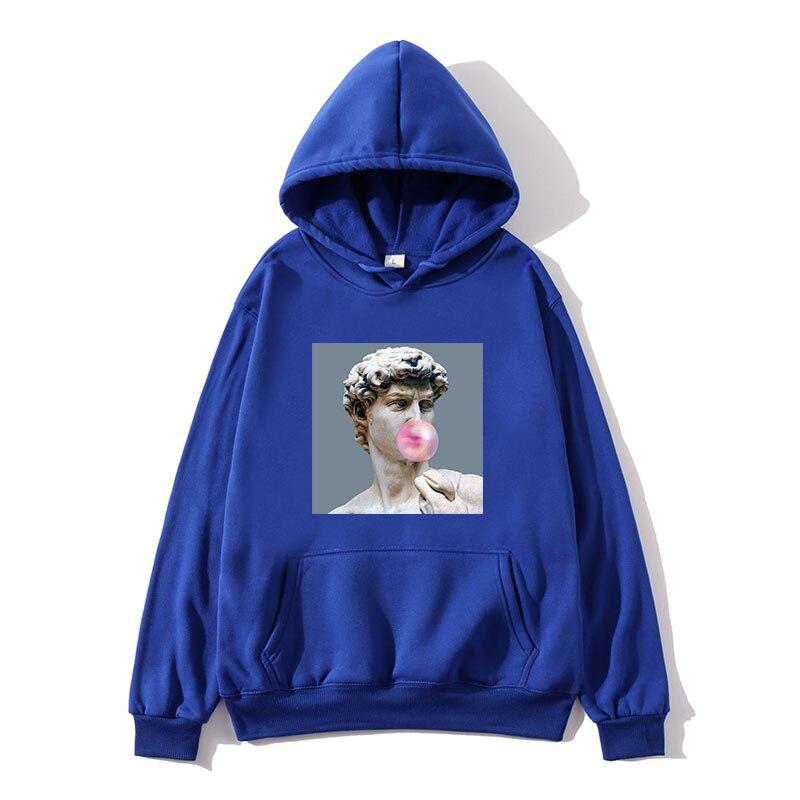 Sweatshirt Male David Michelangelo Unisex Hoodies Funny Printed Fun Print Harajuku Hoodie Hip Hop Streetwear Men's Hoodies Coat