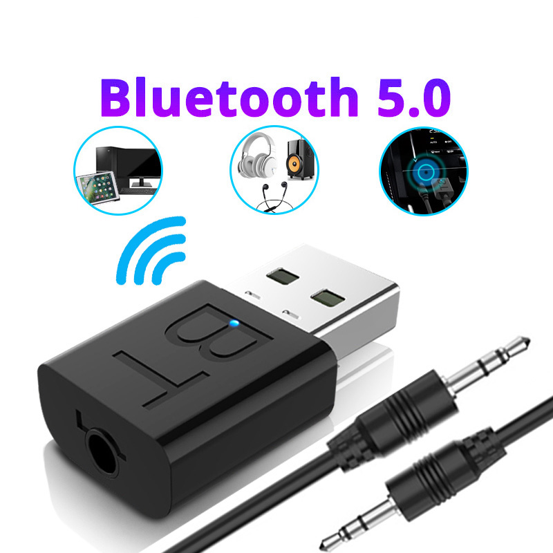 Audio Bluetooth Transmitter Receiver Car AUX Cable Kit Bluetooth Wireless Adapter TV Jack Wireless Earphone USB Adapter