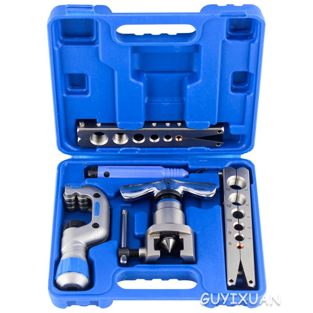 Air Conditioning Refrigeration Repair Kit Eccentric Tapered Flaring Tool Manual Copper Tube Expander Tool Set 6-19mm
