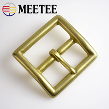 Meetee 38/40mm Pure Solid Brass Belt Pin Buckles Cosplay Cowboy for 36-39mm Belt Decor Leather Craft Jeans Accessories F1-48 стоимость