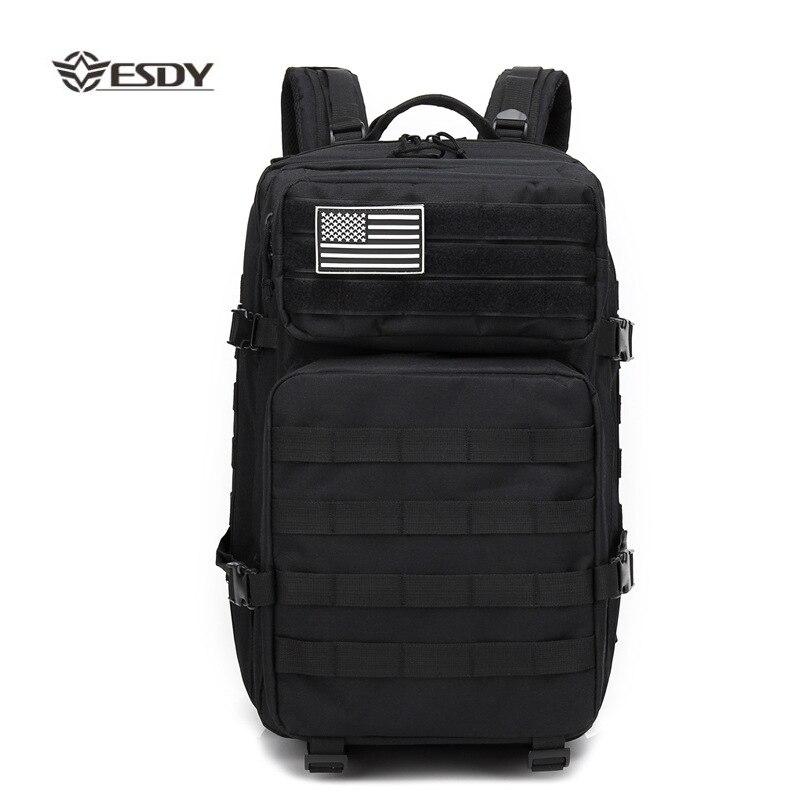 Extérieur 45L militaire tactique assaut Pack sac à dos armée sac étanche petit sac à dos pour la randonnée en plein air Camping sac de chasse