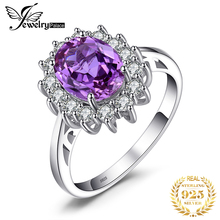 2.4ct Alexandrite Sapphire Ring Luxury Princess Diana William Engagement Wedding Set Solid Genuine 925 Sterling Silver For Women