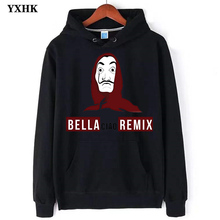 The 3D Paper House Printed Hoodies Sweatshirts Money Theft TV Series Pullovers Men Women Fashion Casual Balr