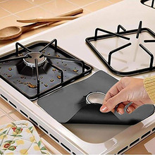Kitchen Tool 4Pcs Reusable Gas Stove Burner Cover Clean Mat Pad Cooker Protectored Gas Stove Cover Corrosion Temperature Resist 8 pcs reusable gas stove burner cover protector liner clean mat pad file injuries protection 2