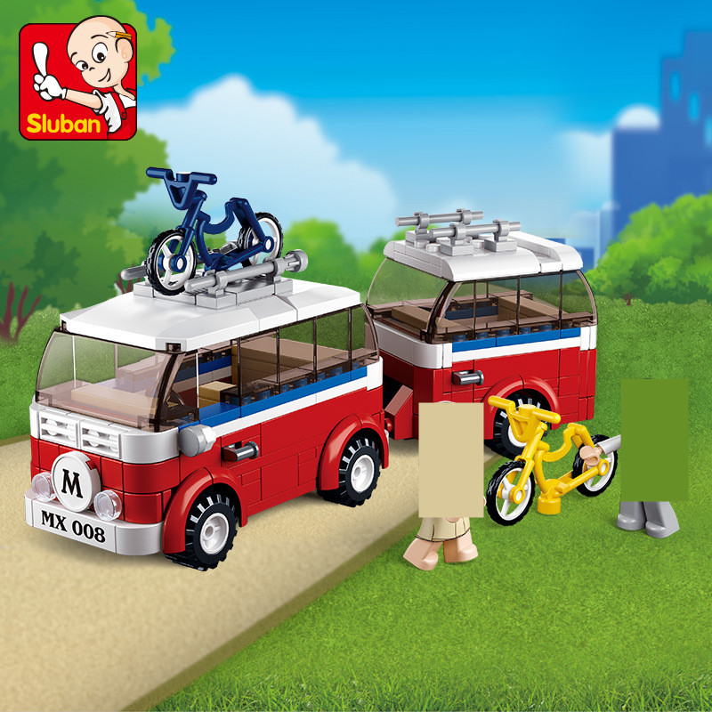 324Pcs City Motorhomes Camper SimCity Outing Travel Car LegoINGLs Friends Building Blocks Sets Toys for Children Christmas Gifts image