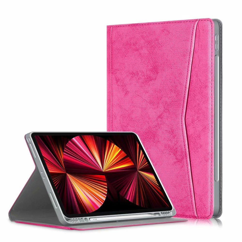 rose golden Other Portfolio Case for iPad Pro 11 2021 2020 2018 Multi Angle Viewing Premium Leather Auto Sleep