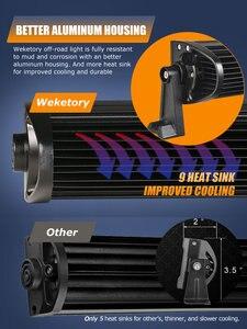 Image 5 - Weketory 5D 22 32 42 52 cale 200W 300W 400W 500W zakrzywiona listwa świetlna LED robocza do ciągnika łódź OffRoad 4WD 4x4 samochód ciężarowy SUV ATV