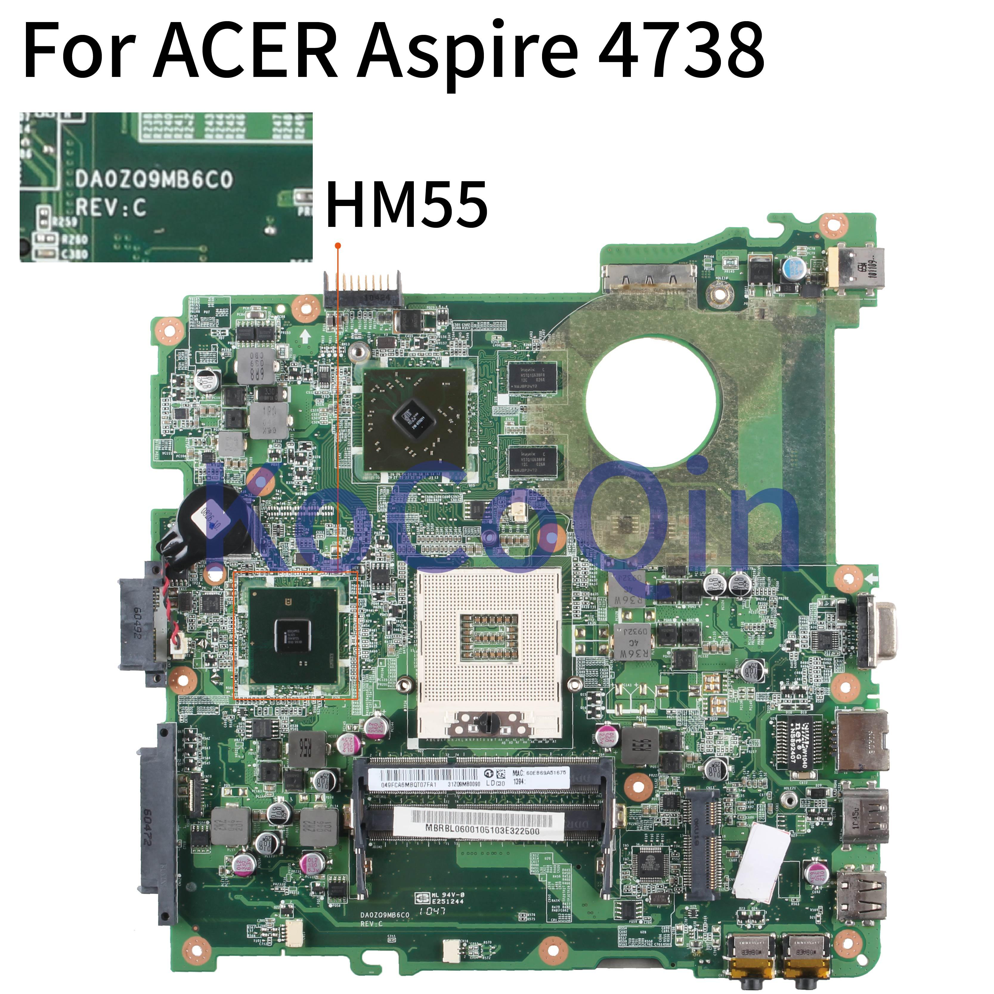 For Acer aspire 4738 4738G 4738Z 4738ZG Laptop motherboard HM55 DDR3 Mainboard