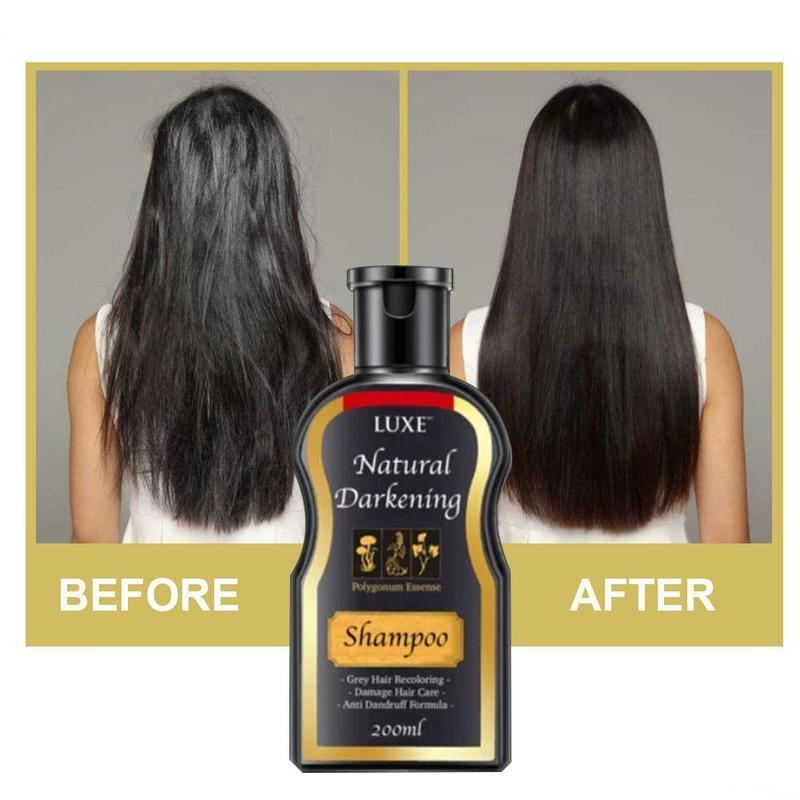 200ml Natural Darkening Shampoo Hair Loss Treatment Roots Treatment Hair Care Shampoo Ginger Hair Growth Anti-hair Loss Shampoo