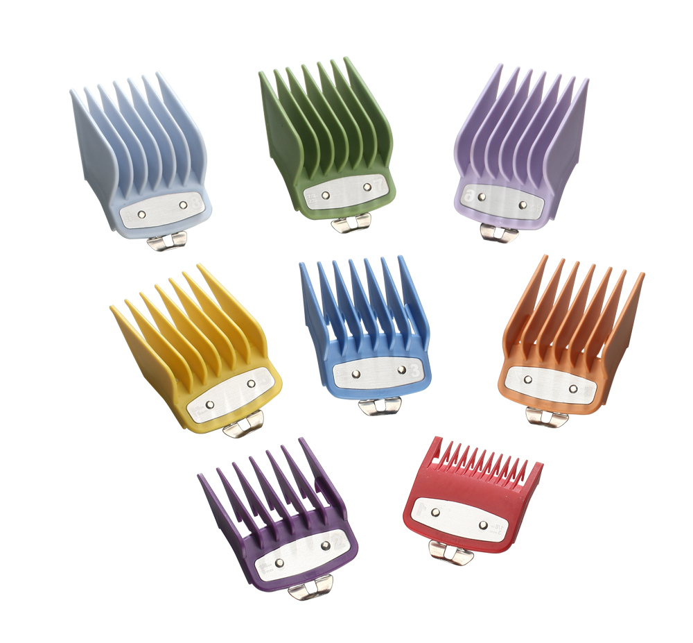 Image 4 - 8 sizes guide comb sets with a box extra 1.5/4.5 mm clipper cutting tool kit  hair clipper limited combs with metal-in Hair Trimmers from Home Appliances