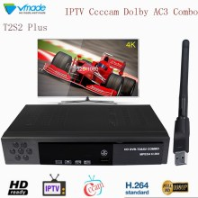 Vmade DVB-T2S2 + WIFI Combo Satellite TV Receiver Support Dolby Cccam IPTV TV Tuner Box HD 1080P Digital Terrestrial Receptor dvb t2 dvb t h 264 full 1080p mpeg 2 4 digital tv tuner iptv m3u hd set top box support youtube meecast terrestrial receiver