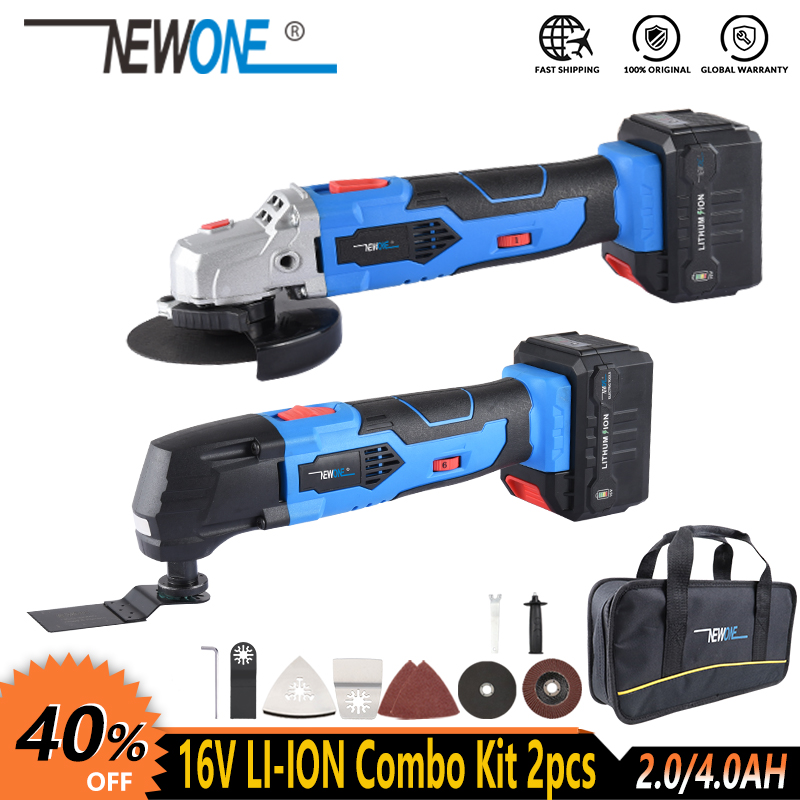NEWONE 16V Cordless Power Tool Li-ion Angle Grinder Oscillating Tool Multi-function Tool With Battery Electric Combo Kit