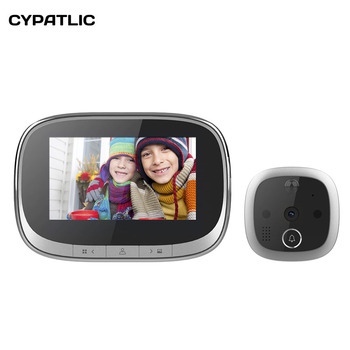 Motion Detect Mirilla Digital Puerta Spyhole Door Viewer Camera Video Peephole Door Bell Take Photo/Video IR Night Vision