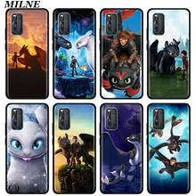 Toothless Your Dragon Silicone Phone Case For Vivo S1 Pro Y12 Y15 Pro Y17 Y19 Z6 5G Y30 Y50 V19 iQOO 3 5G Z1 Soft Back Cover candy solid color liquid case for vivo iqoo neo 3 5g case for vivo iqoo z1 5g phone case for vivo iqoo neo3 cover iqoo z1 6 57