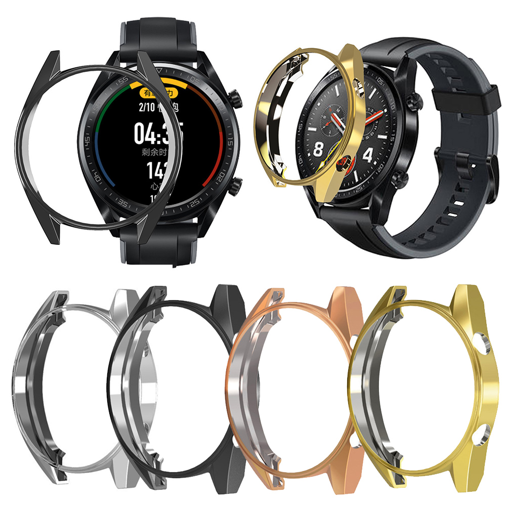 TPU Slim Smart Watch Protective Case Cover For Huawei Watch GT Case Frame Anti-Scratch Shell Smartwatch Accessories M25