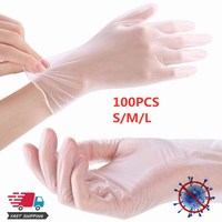 100PCS Protection Safety Disposable Gloves S M L Size Food Dishwashing Gloves PVC Kitchen Rubber Anti infection ffp3 Gloves|Safety Gloves| |  -
