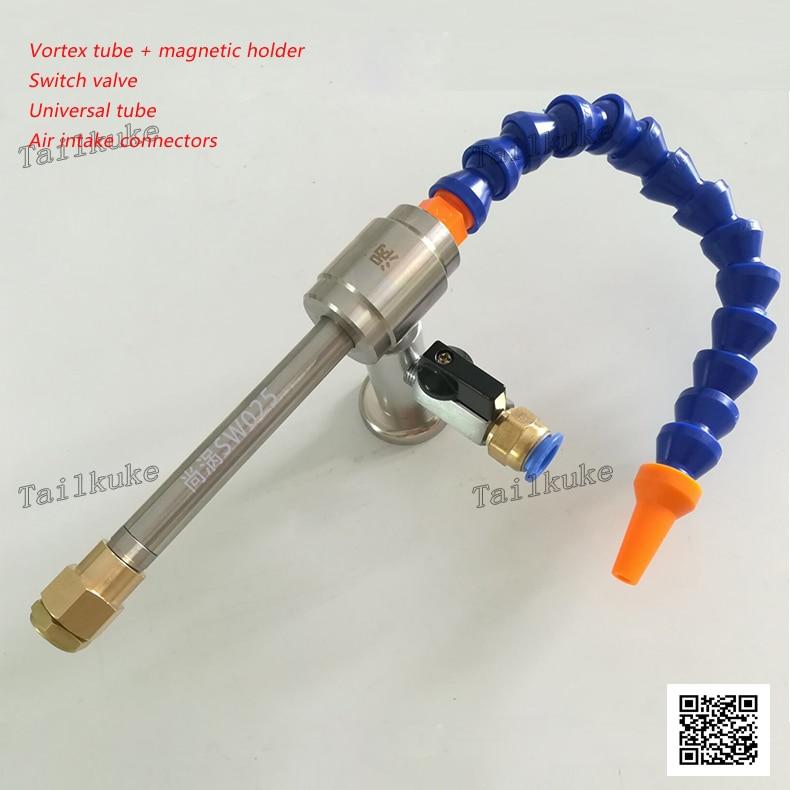 Vortex Tube Cooler Vortex Refrigeration Tube Cold Air Gun Compressed Air Cooling Gun Tool Cooler