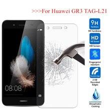 GR3 kapak temperli cam Huawei GR3 TAG L21 TAG L13 TAG L23 etiketi L21 GR 3 koruyucu ekran koruyucu GR 3 cam film