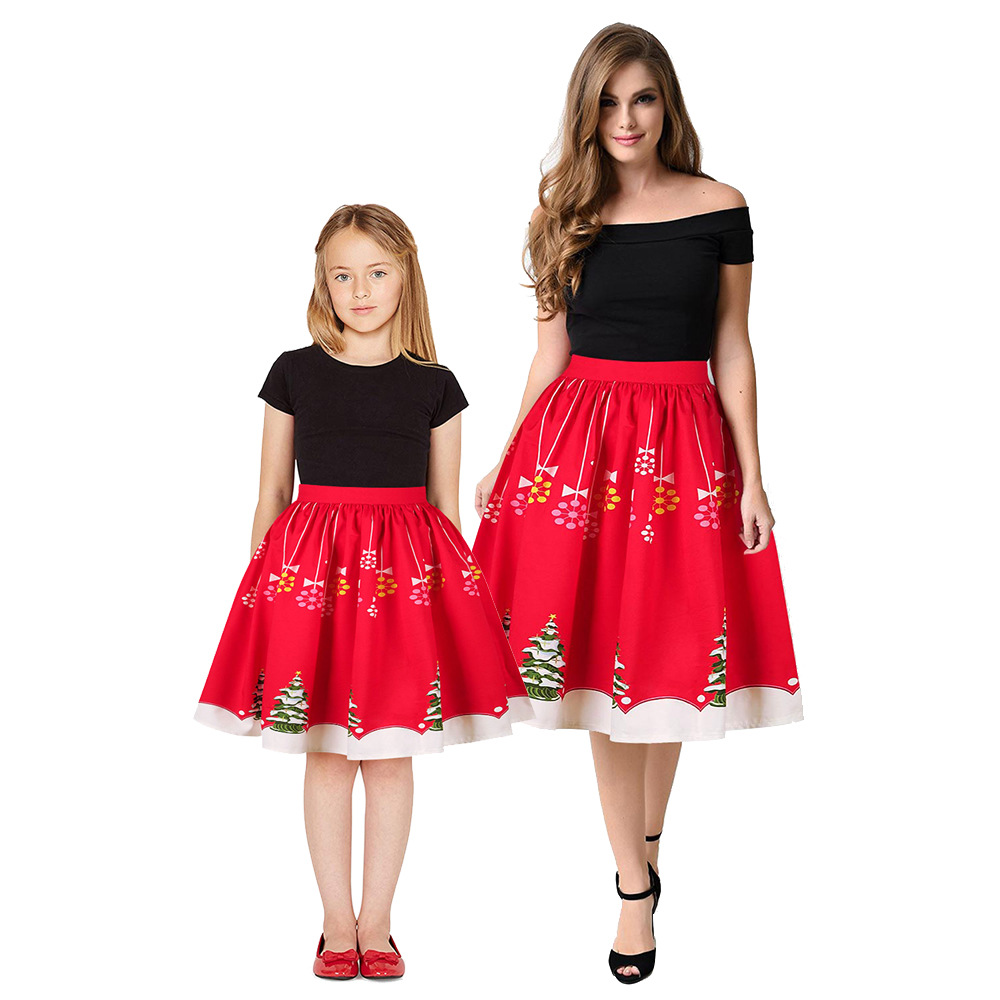 Christmas Girls Dress Teens Girls Party Dresses For Girls Family Matching Outfits New Year Mom Daughter Dresses Carnival Dress (3)