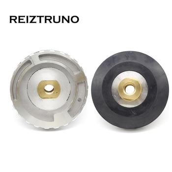 REIZTRUNO 4 Inch 100mm Snail Lock Backer Pad Aluminum Rubber Backer Diamond Edge Polishing Pad Adapter M14 5/8-11 Back-Up Holder куртка кожаная tony backer tony backer to043emhdsc6
