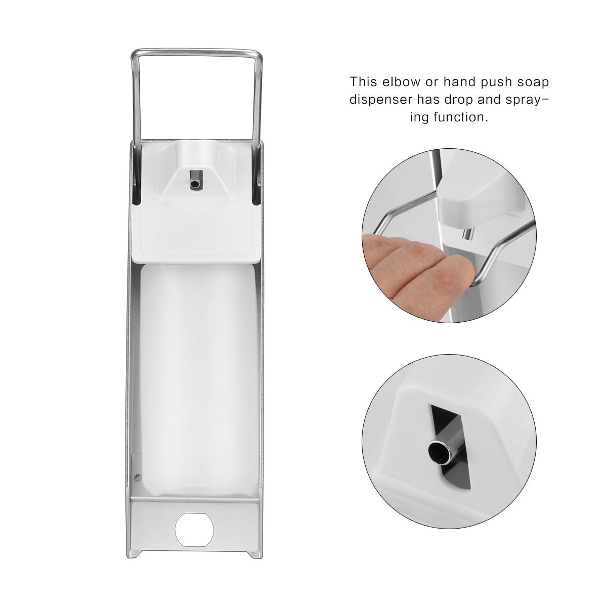 Ha6d9199bb7d0465894461b4e4a5ab56aX Wall-Mount Liquid Soap Dispenser Pump Hospital Elbow Press Hand Sanitizer Soap Dispenser Bottle For Kitchen Hotel Bathroom