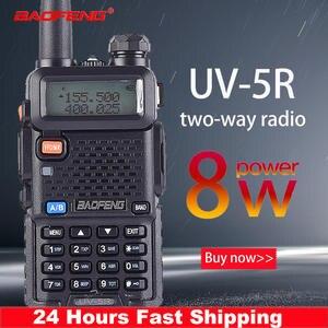 Walkie-Talkie Dual-Band True Two-Way-Radio Uv5r Long-Range Hunting CB High-Power Portable