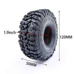 Image 4 - 4PCS 120MM 1.9 Inch Soft Tires For SCX10 90046 D90 TRX4 RC Truck Crawler 1.9/2.2 Rim