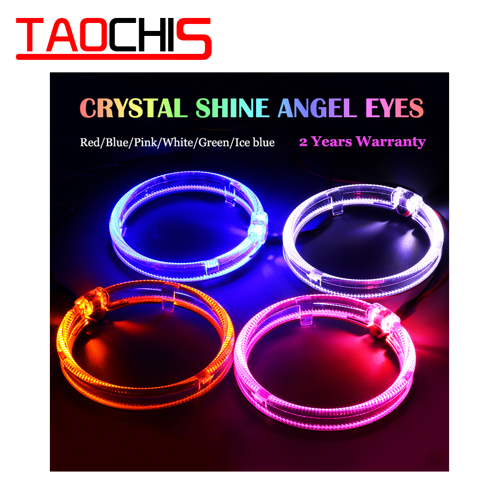 TAOCHIS 95mm LED Ring Optical Guide Angel Eyes Head Lamp Day Time Running Light DRL For BMW Benz Chevrolet Toyota Mazda