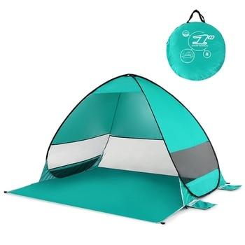 Tenda A Baldacchino Portatile   Automatico Up Tenda Della Spiaggia Cabana Portatile Upf 50 + Ripari Per Il Sole Pesca Di Campeggio Tettoia Esterna Tende Da Campeggio Trekking, Lago Verde
