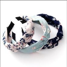 Hot Fashion Hairbands Bezel Head Hoop Top Knot Turban Elasti