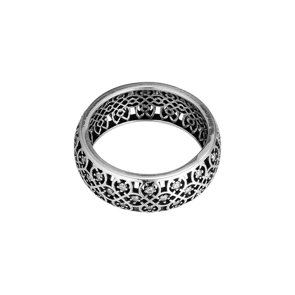ตกแต่งแหวนเงิน CZ 925 เงินสเตอร์ลิงเครื่องประดับแหวนผู้หญิงเครื่องประดับแหวนแฟชั่นขายส่ง
