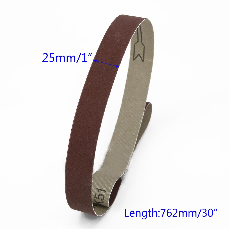 15pcs Assorted Grade 25Mm X 762Mm 600 800 1000 Grit Belt Sander Sanding Belts