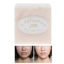 Tayland el yapımı pirinç sabunu kollajen antibakteriyel beyazlatıcı banyo sabunu
