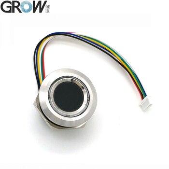 Новый круглый двухцветный кольцевой индикатор GROW R503, СВЕТОДИОДНЫЙ Датчик управления DC3.3V MX1.0-6pin, емкостный Модуль сканера отпечатков пальце...