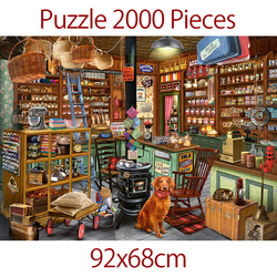 jigsaw puzzle 2000 pieces adult Oil Painting Puzzles Difficult Famous department store Paper Puzzle gams Birthday Gift