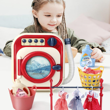 Child Play House Simulation Home Appliances Drum Washing Machine DIY Electric Simulate Toys Household Appliances Girl Kids Gift