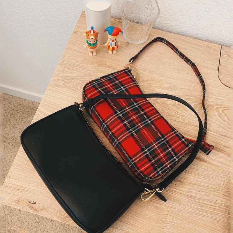 2019 offre spéciale vintage rétro sacs concepteur dames sacs à main français plaid rouge sac femme élégant petit bolsa feminina sacs à bandoulière