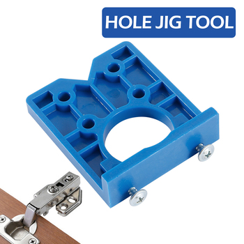 35mm Hinge Drilling Jig Concealed Guide Hinge Hole Drilling Guide Locator Woodworking Hole Opener Door Cabinet Accessories Tool 20 pcs 10 8mm mini gold copper hinge cabinet drawer butt small hinge 4 small hole with screws