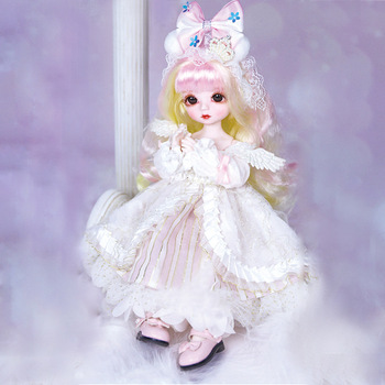 Little Angel Series BJD Doll 1/6 Toys For Children Include Doll Clothes Shoes Hair 3D Real Eye Joint Movable Fashion Baby Doll