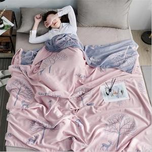 Image 5 - במבוק כותנה קיץ שמיכה למבוגרים מצעים שמיכת כיסוי המיטה 150*200 cm 2 שכבות מוסלין שינה גזה שמיכת עבור אחר הצהריים תנומה