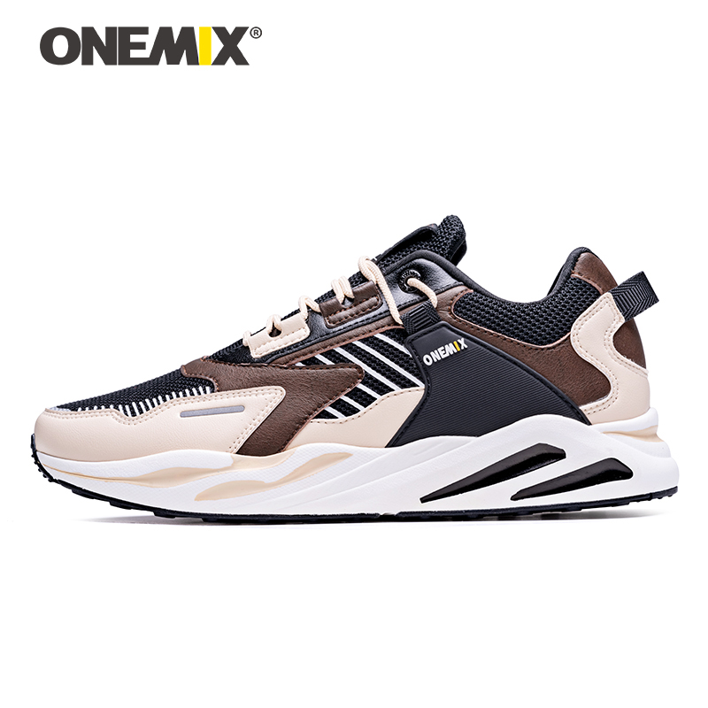 ONEMIX Retro Running Shoes Men's Large Size Sneakers Wild Comfortable Casual Shoes Outdoor Travel Harajuk Walking Jogging Shoes