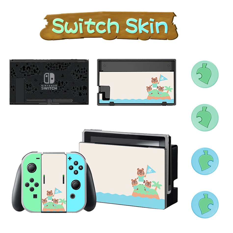 Animal Crossing Thumb Stick Grip And Sticker Set For Nintendo