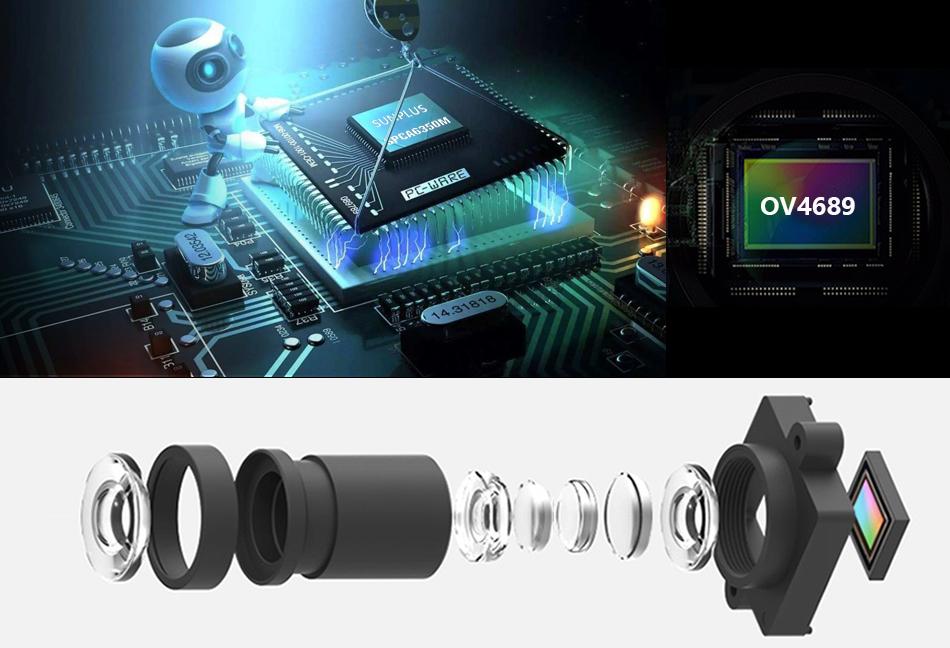 """EKEN H9R/H9 Ultra HD 4 K/30fps WiFi 2,0 """"170D impermeable bajo el agua 5"""