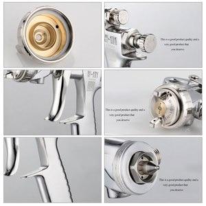 Image 4 - W 101 400CC Metal Cup Spray Gun Air Paint Spray Guns Airbrush Manual Spray Gun 0.8/1.0/1.3/1.5/1.8mm Plastic Cup Air Spray Gun